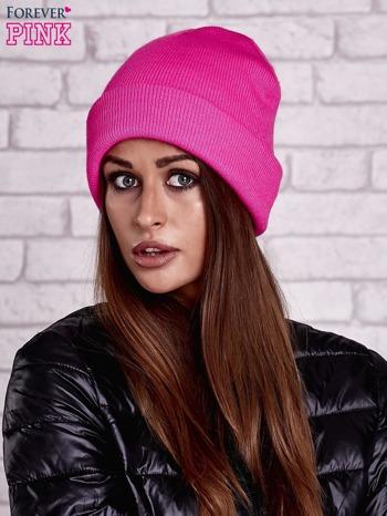 Różowa neonowa czapka beanie                                  zdj.                                  1