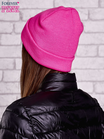 Różowa neonowa czapka beanie                                  zdj.                                  2