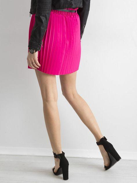 Różowa plisowana spódnica z paskiem                              zdj.                              2