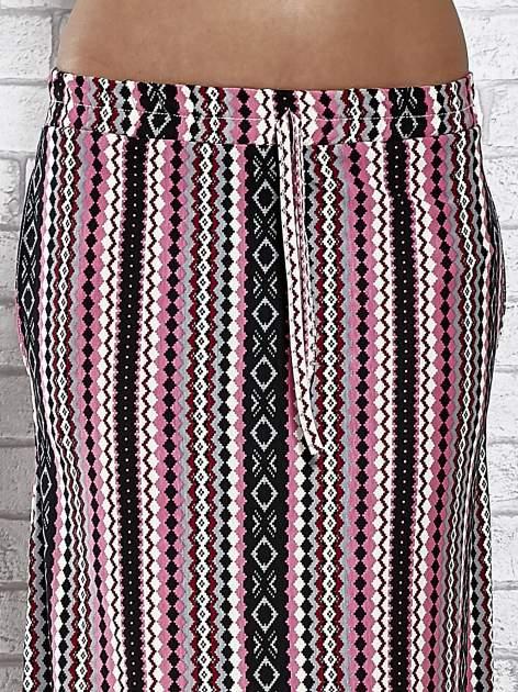 Różowa spódnica maxi w azteckie wzory                                  zdj.                                  5