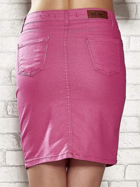 Różowa spódnica z zapięciem na guzik                                  zdj.                                  6