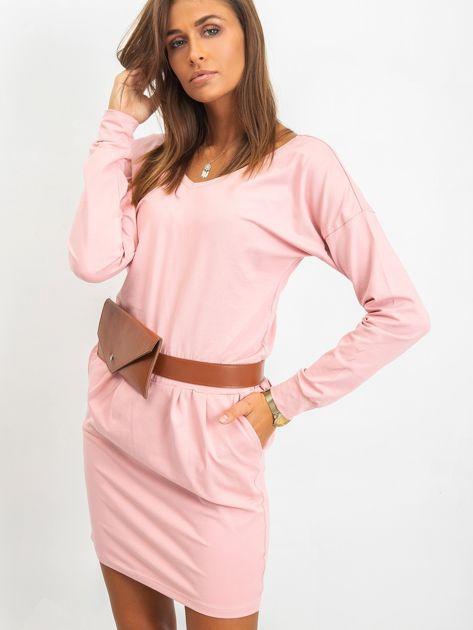 Różowa sukienka Simple                              zdj.                              1