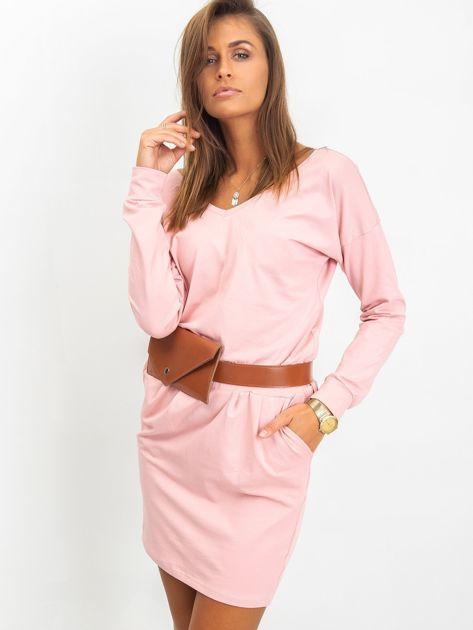 Różowa sukienka Simple                              zdj.                              3