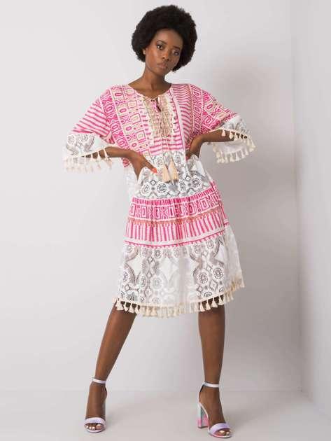Różowa sukienka boho Nayeli