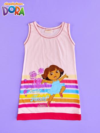 Różowa sukienka dla dziewczynki DORA POZNAJE ŚWIAT                                  zdj.                                  1