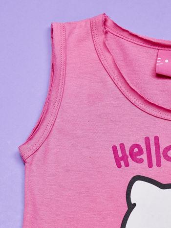 Różowa sukienka dla dziewczynki HELLO KITTY                                  zdj.                                  4