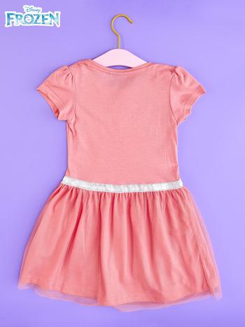 Różowa sukienka dla dziewczynki z tiulowym wykończeniem FROZEN                                  zdj.                                  2