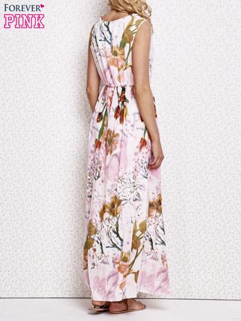 Różowa sukienka maxi w kwiaty                                  zdj.                                  2