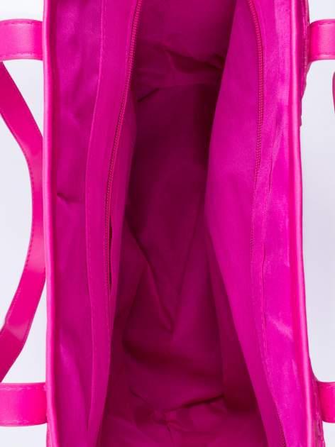 Różowa torba koszyk plażowy z cekinami                                  zdj.                                  4