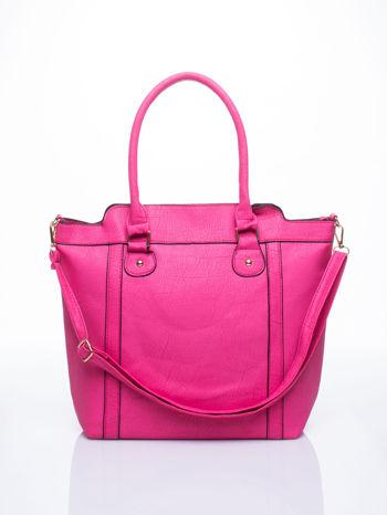 Różowa torba miejska z odpinanym paskiem                                  zdj.                                  1