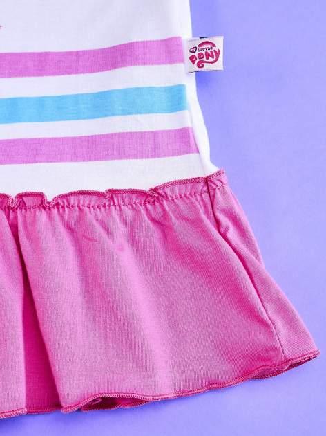 Różowa tunika dla dziewczynki z falbanką na dole MY LITTLE PONY                                  zdj.                                  5