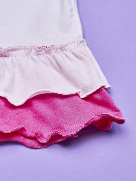 Różowa tunika dla dziewczynki z motywem MINNIE MOUSE                                  zdj.                                  3