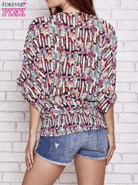 Różowa wzorzysta koszula nietoperz z suwakiem                                  zdj.                                  2