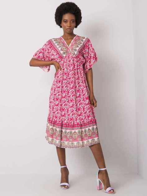 Różowa wzorzysta sukienka Selkie
