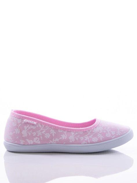 Różowe baleriny w białe kwiatki                               zdj.                              1