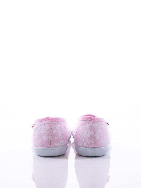 Różowe baleriny w białe kwiatki                               zdj.                              4