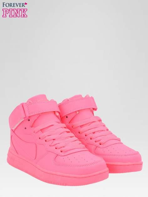 Różowe buty sportowe Heather za kostkę na grubej podeszwie                                  zdj.                                  2