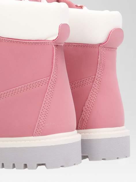 Różowe buty trekkingowe damskie traperki Shimmy                                  zdj.                                  7