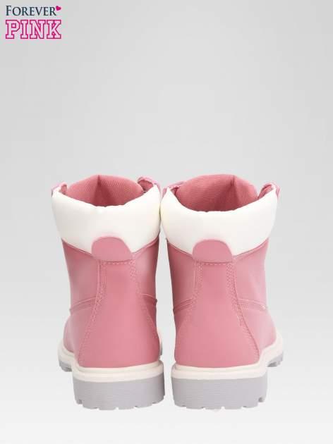 Różowe buty trekkingowe damskie traperki Shimmy                                  zdj.                                  3