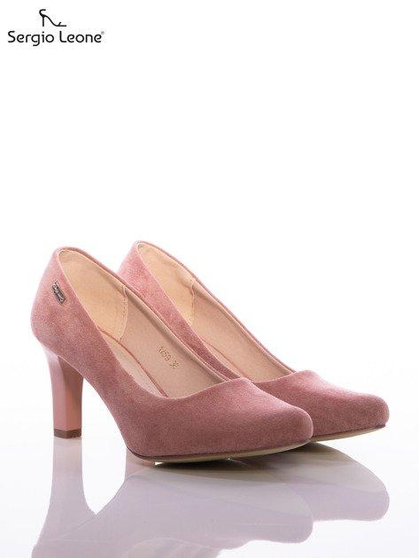 Różowe czółenka Sergio Leone z eco zamszu                                  zdj.                                  2