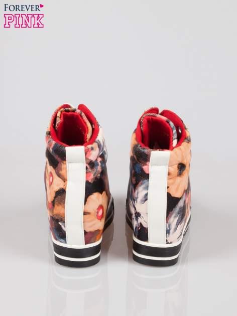Różowe kwiatowe sneakersy Flora                                  zdj.                                  3