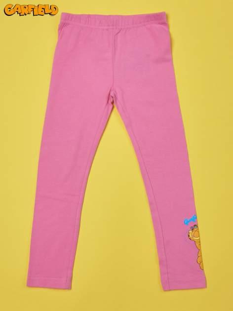 Różowe legginsy dla dziewczynki GARFIELD