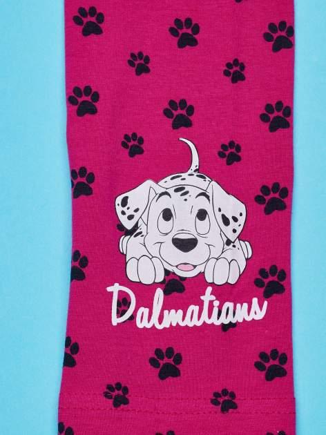 Różowe legginsy dla dziewczynki motyw 101 DALMATYŃCZYKÓW                                  zdj.                                  3