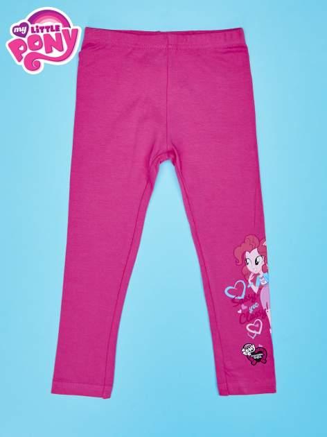 Różowe legginsy dla dziewczynki motyw MY LITTLE PONY                                  zdj.                                  1