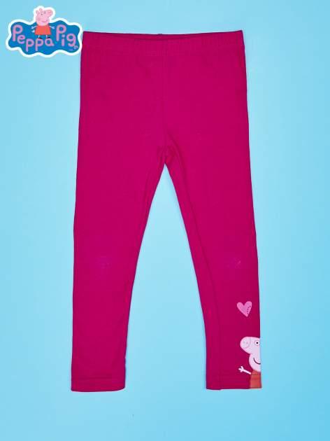 Różowe legginsy dla dziewczynki motyw ŚWINKA PEPPA