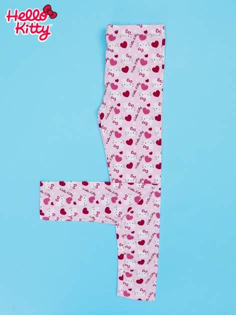Różowe legginsy dla dziewczynki z nadrukiem HELLO KITTY                                  zdj.                                  2