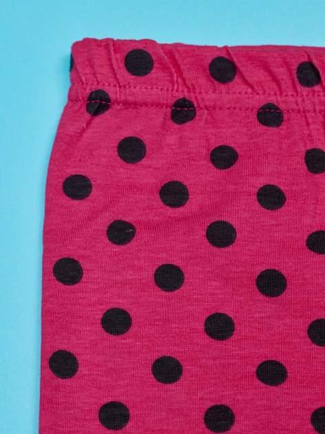 Różowe legginsy w groszki dla dziewczynki SMERFY                                  zdj.                                  3