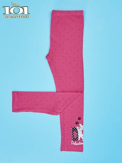 Różowe legginsy w kropki dla dziewczynki 101 DALMATYŃCZYKÓW                                  zdj.                                  4