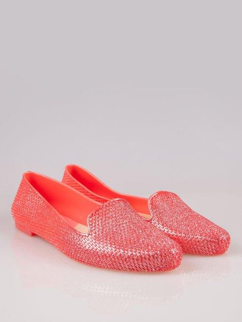 Różowe lordsy material Gummy Bear z efektem glitter                                  zdj.                                  2
