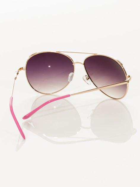 Różowe pilotki okulary przeciwsłoneczne typu AVIATOR                                  zdj.                                  5