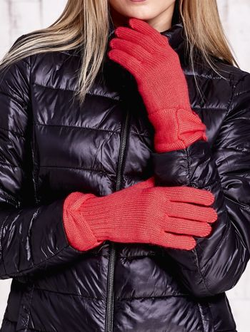 Różowe rękawiczki z kokardą w stylu retro                                  zdj.                                  1