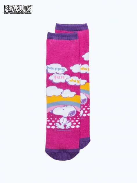 Różowe skarpetki dla dziewczynki SNOOPY