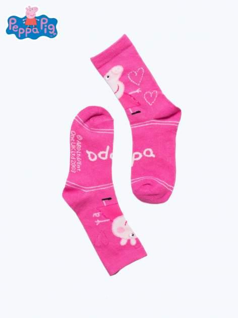 Różowe skarpetki dla dziewczynki ŚWINKA PEPPA                                  zdj.                                  2
