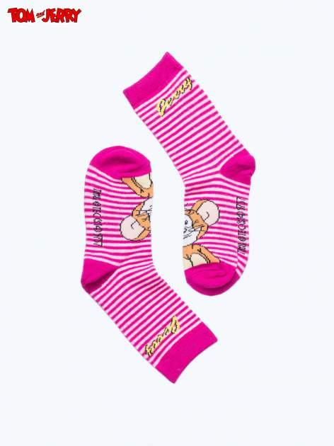 Różowe skarpetki dla dziewczynki TOM I JERRY