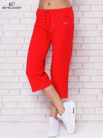 Różowe spodnie sportowe capri                                  zdj.                                  1