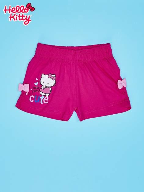Różowe szorty dla dziewczynki motyw HELLO KITTY                                  zdj.                                  1