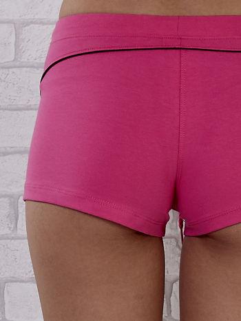 Różowe szorty sportowe z czarną wstawką                                  zdj.                                  8