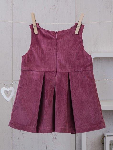 Różowo-beżowy ciepły niemowlęcy 3-częściowy komplet z sukieneczką i sweterkiem dla dziewczynki na co dzień i na specjalne okazje                              zdj.                              5