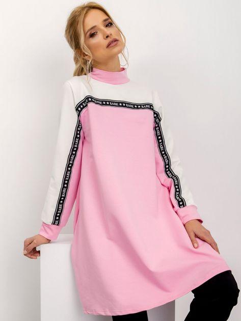 Różowo-biała sukienka Team