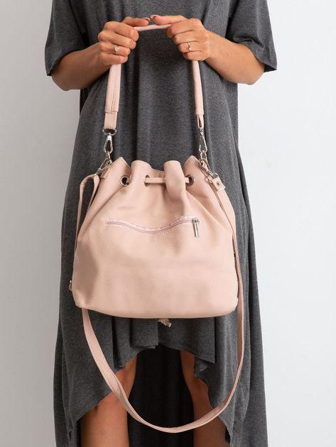 Różowo-srebrna torebka ze ściągaczem                              zdj.                              2