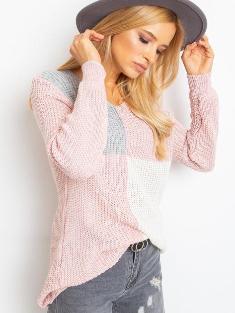 Różowo-szary sweter Latina                              zdj.                              3