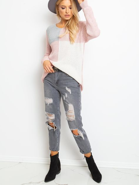 Różowo-szary sweter Latina                              zdj.                              4