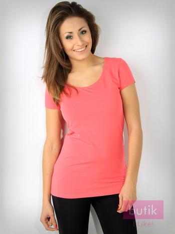 Różowy basicowy t-shirt For Fitness