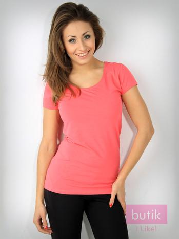 Różowy bawełniany t-shirt For Fitness