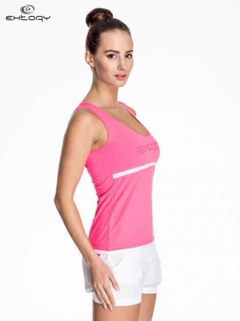 Różowy damski top sportowy z logo EXTORY                                  zdj.                                  3