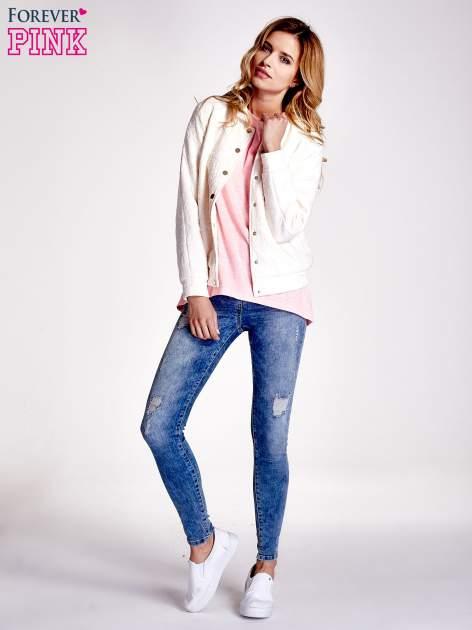 Różowy jednolity t-shirt                                  zdj.                                  2